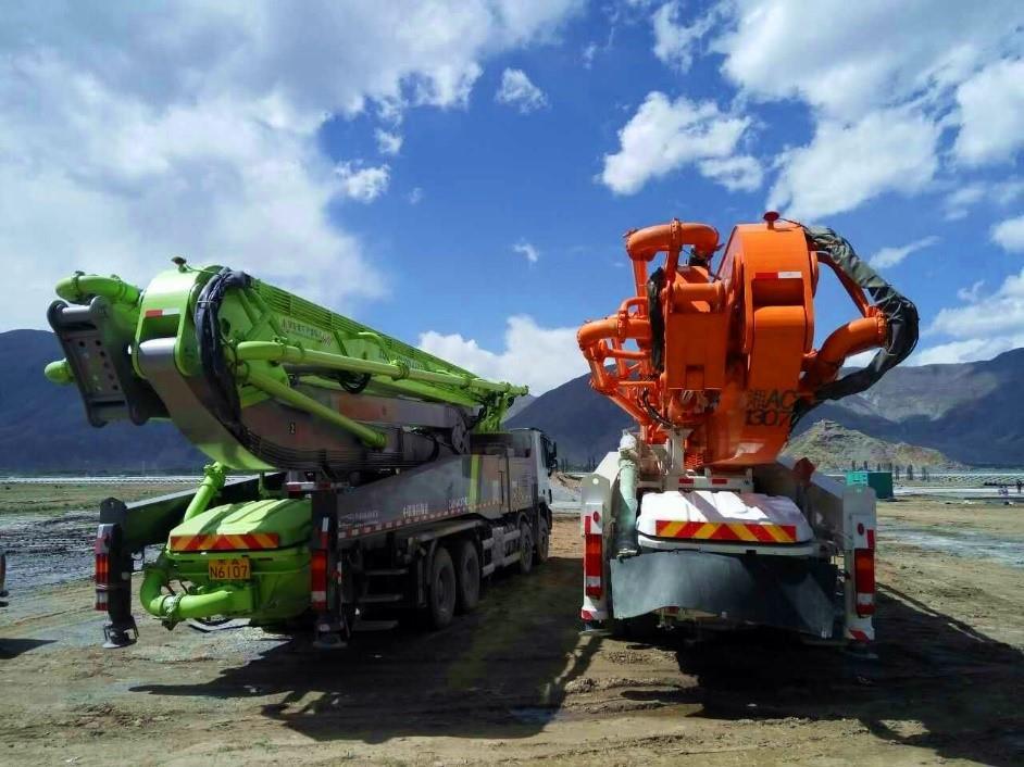 中联重科工程机械4.0产品首登世界屋脊助力拉萨市政建设