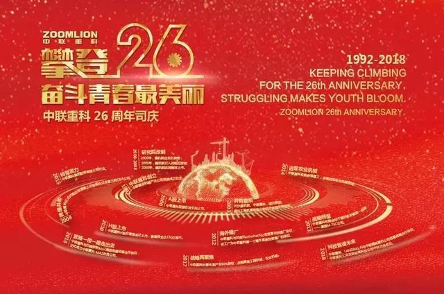 中联重科创立26周年:传承科研基因迈向国际一流