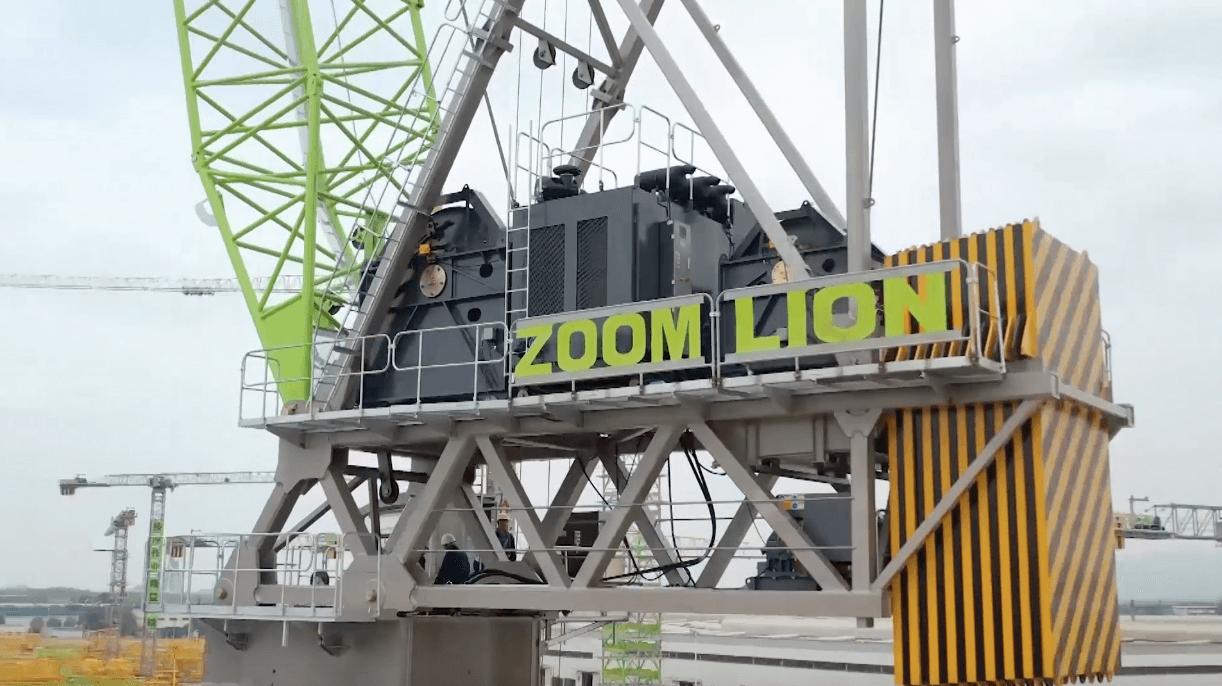 全球最大吨位内爬式动臂塔机下线中联重科刷新世界纪录